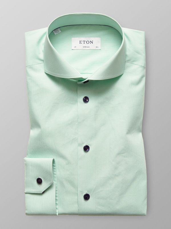 Green Shirt - Navy Buttons