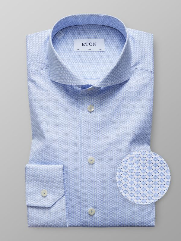 Light Blue Geometric Shirt