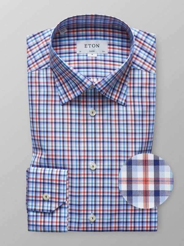 Orange & Blue Check Shirt