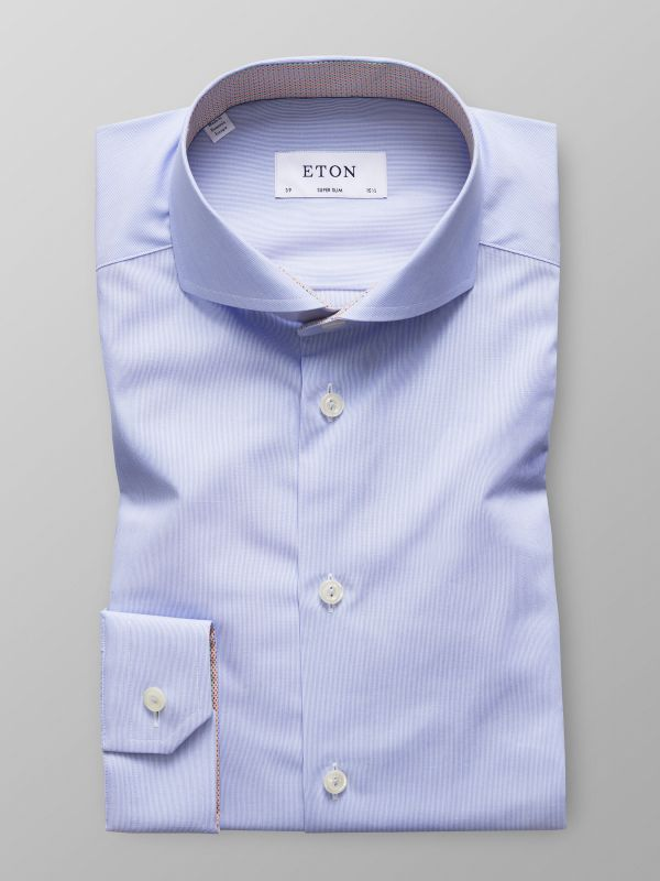 Light Blue Fine Striped Shirt