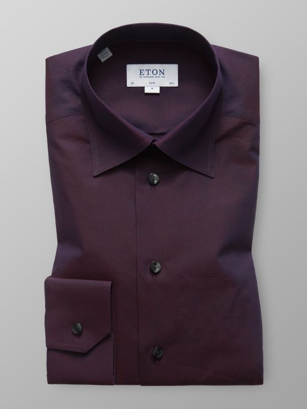 Red Button-Under Poplin Shirt