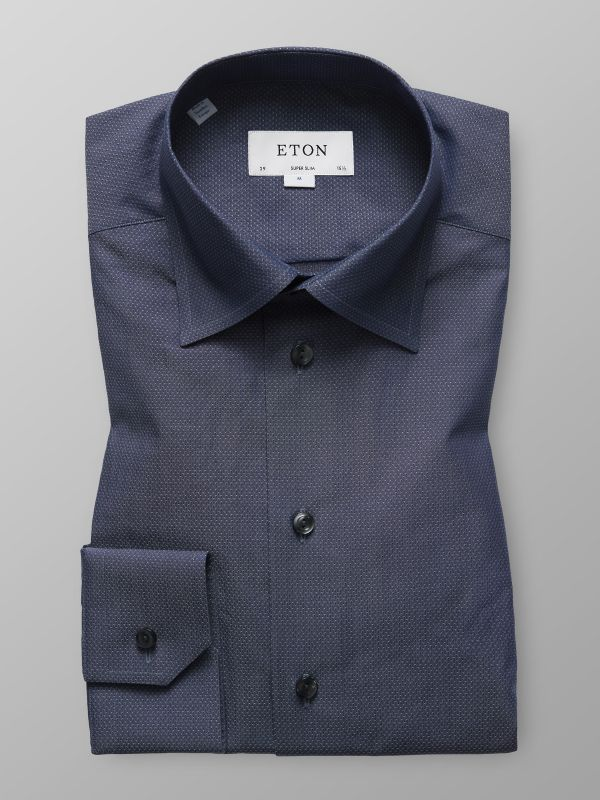 Grey Button-Under Poplin Shirt