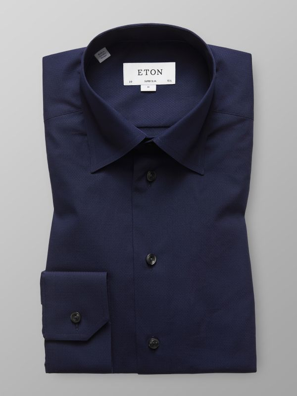 Navy Button-Under Poplin Shirt