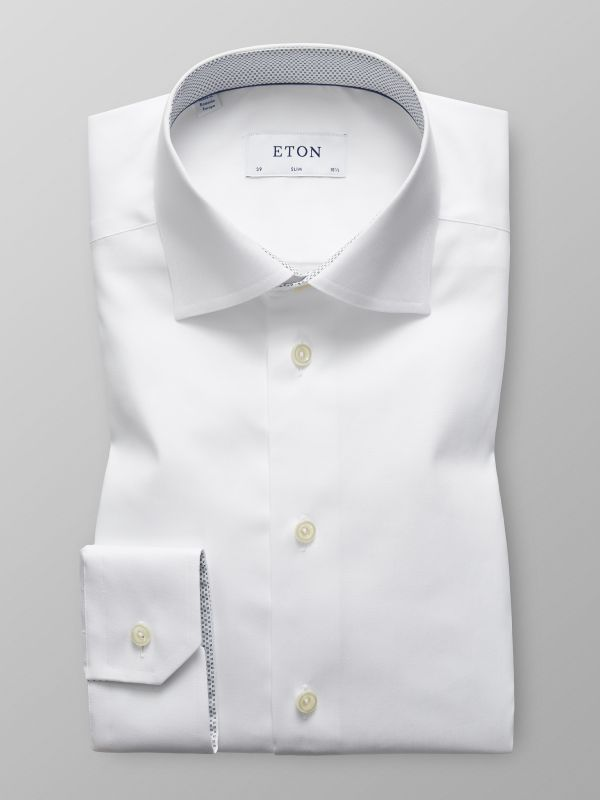 White Shirt - Micro Print Detail