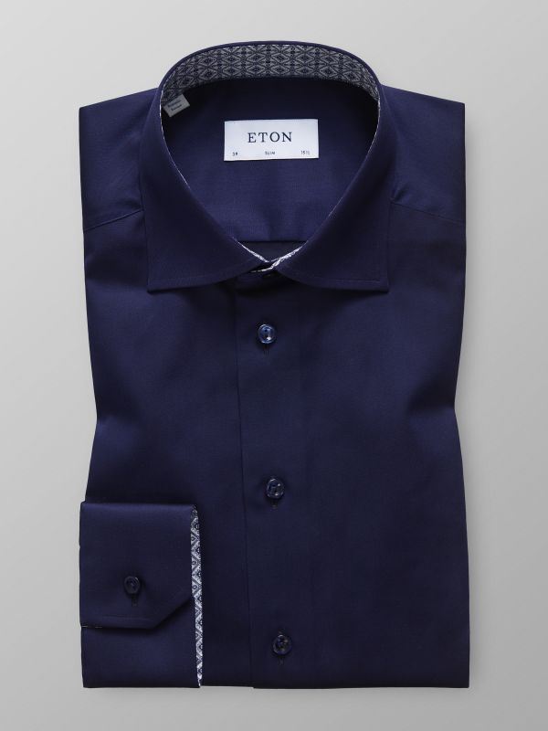 Navy Shirt - Medallion Details