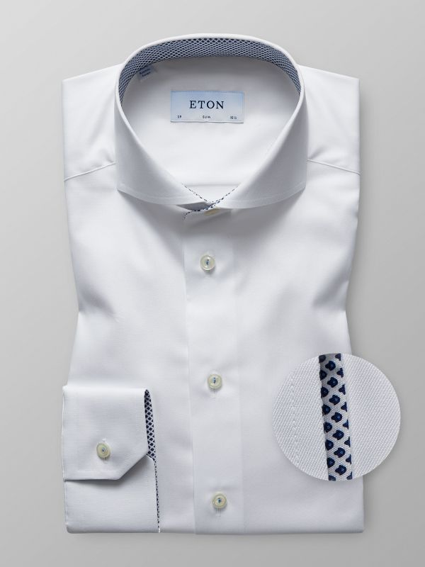 White Shirt with Contrast Details