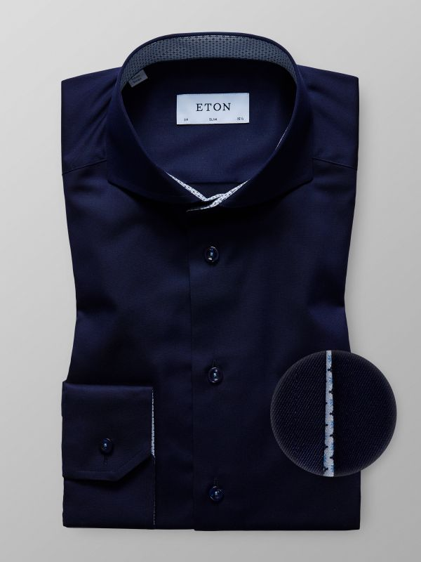 Navy Shirt With Contrast Details