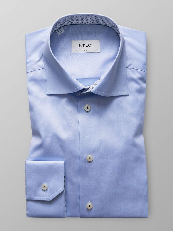 Twill Shirt With Contrast Trim