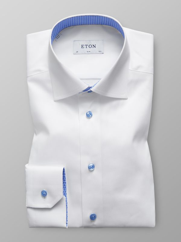 White Shirt with Micro Tiger Details