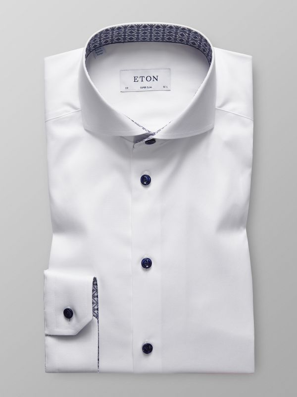 White Shirt - Medallion Details