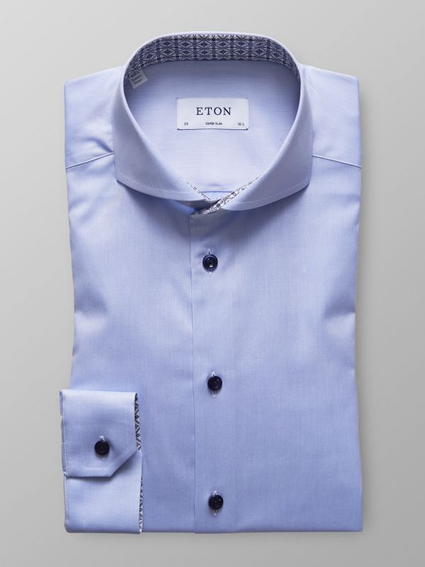 Sky Blue Shirt - Medallion Details