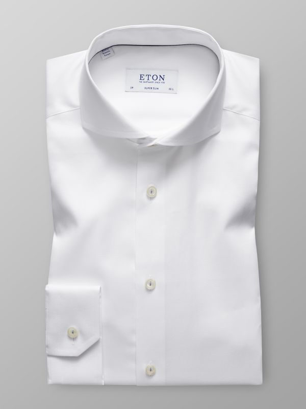 White Twill Shirt - Floral Embroidery