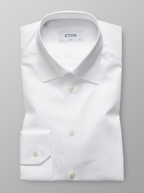 White Button-Under Collar Shirt