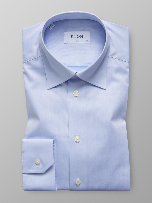 Blue Button-Under Collar Shirt