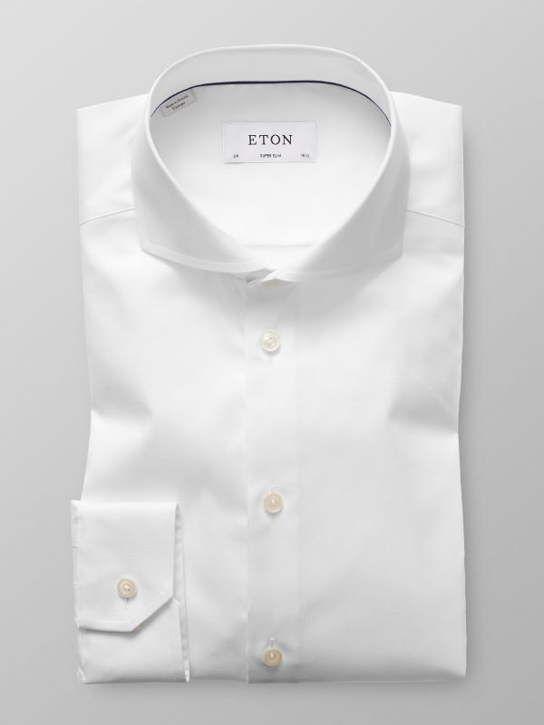 White Extreme Cut Away Shirt