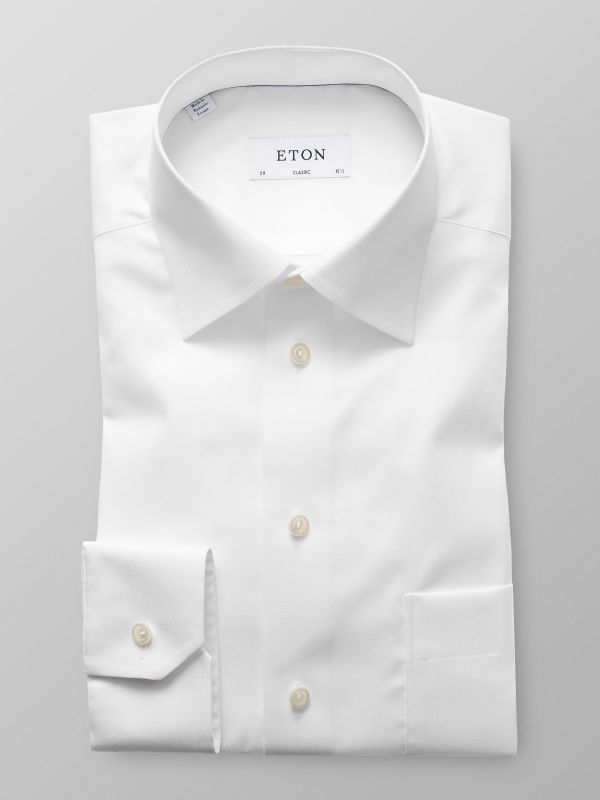 White Moderate Cut Away Shirt
