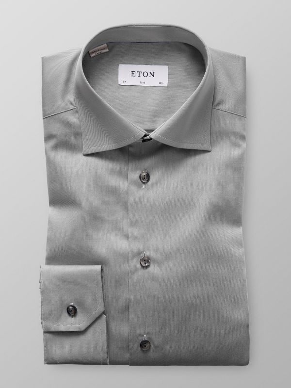 Grey Signature Twill Shirt