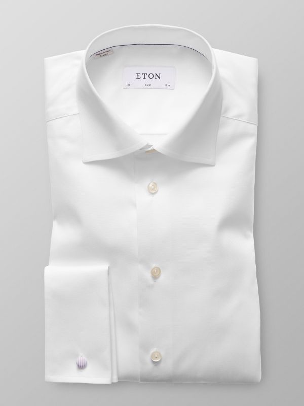 Shirts and accessories eton shirts us White french cuff shirt slim fit