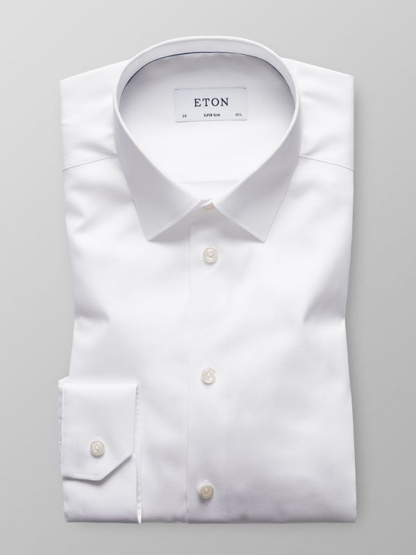 White Solid Twill Shirt