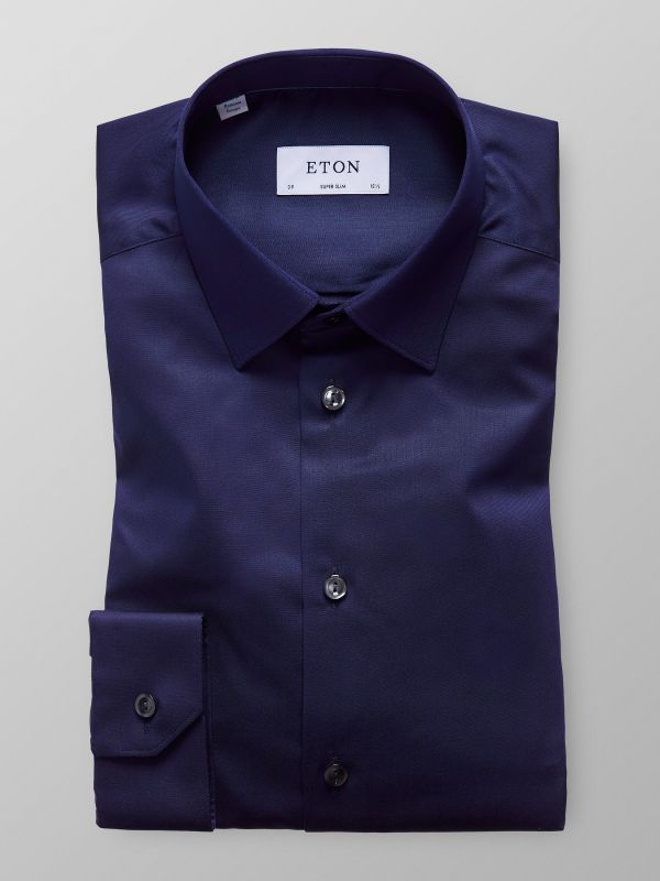Navy Solid Twill Shirt