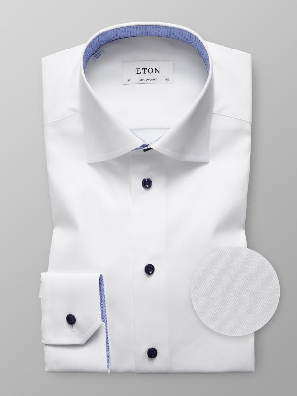 White Shirt with Modern Details