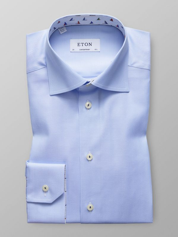 Sky Blue Shirt - Sailboat Details