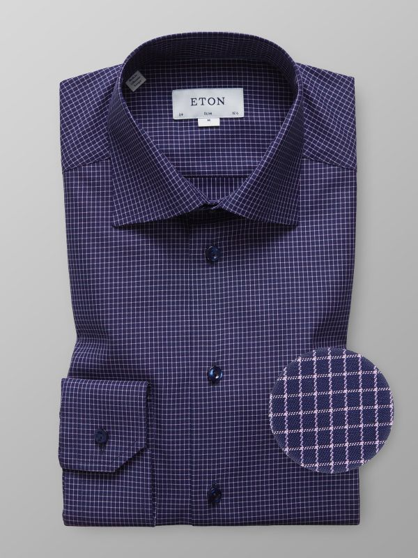 Navy & Pink Check Shirt