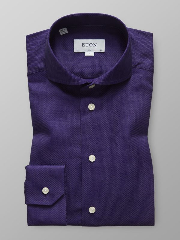 Purple Geometric Twill Shirt