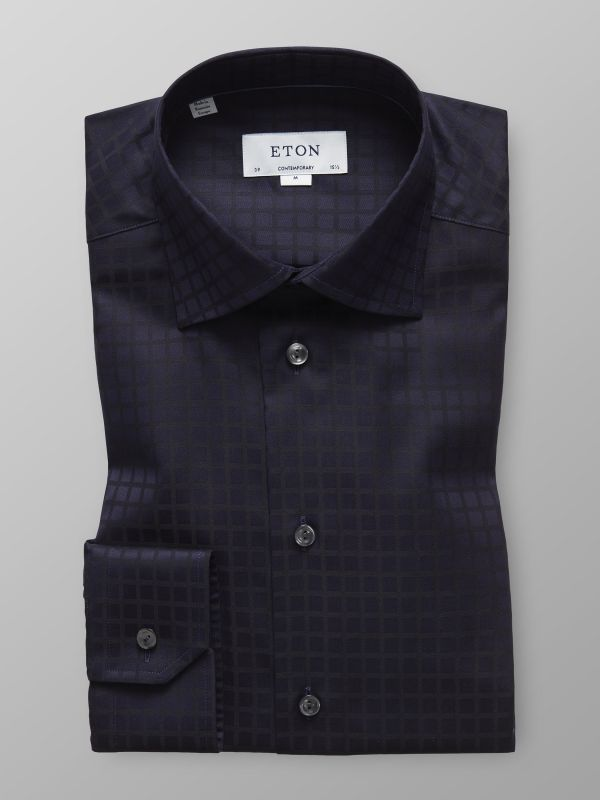 Black Check Twill Shirt