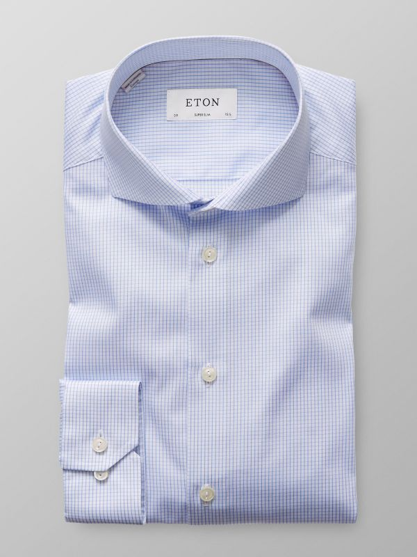 Light Blue Check Twill Shirt