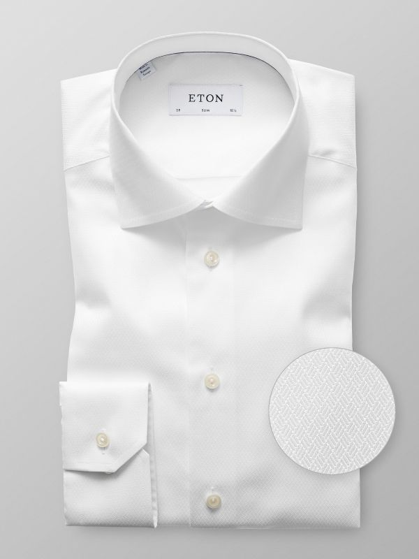 White Block Pattern Shirt