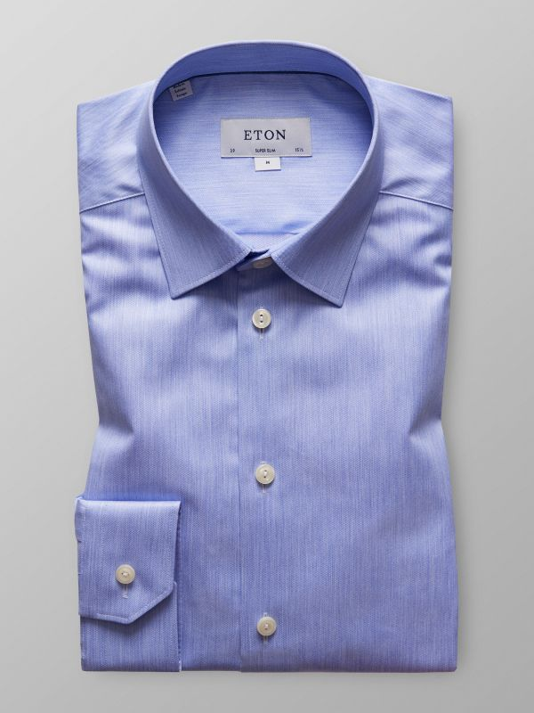 Light Blue Denim Effect Twill Shirt
