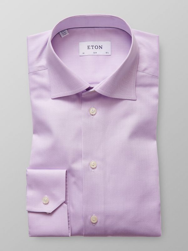 Purple Herringbone Twill Shir