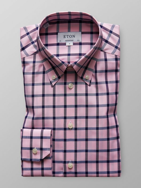 Pink Check Twill Shirt