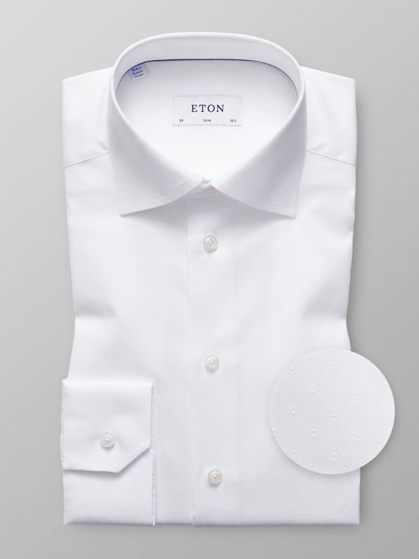 White Dobby Twill Shirt