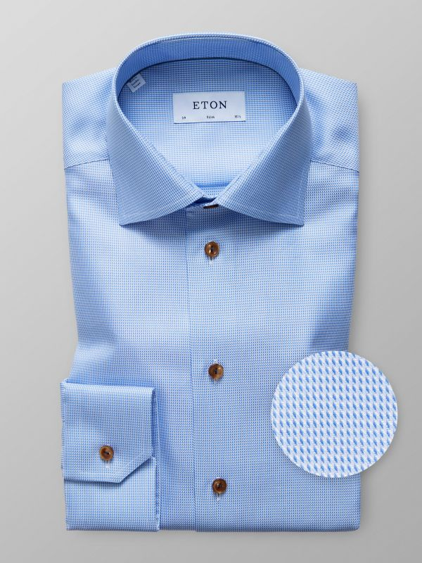 Blue Hound's Tooth Shirt