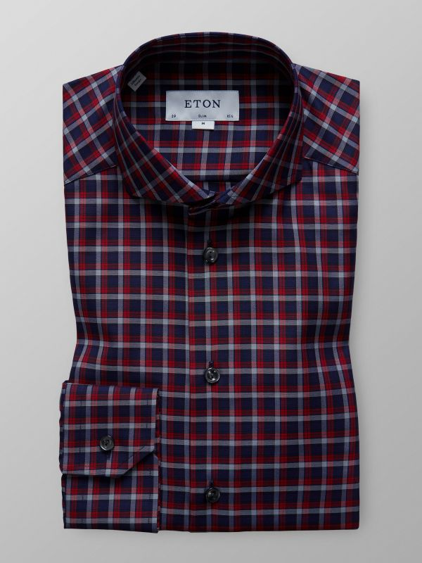 Red Bold Check Shirt