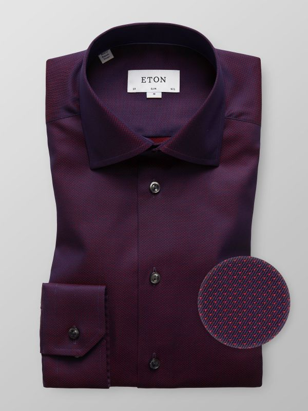 Red Dotted Twill Shirt