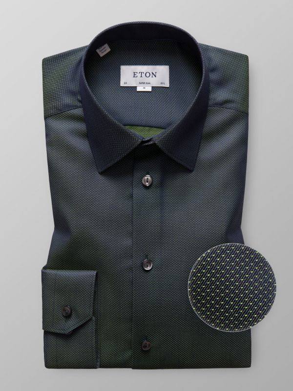 Green Micro Pattern Twill Shirt