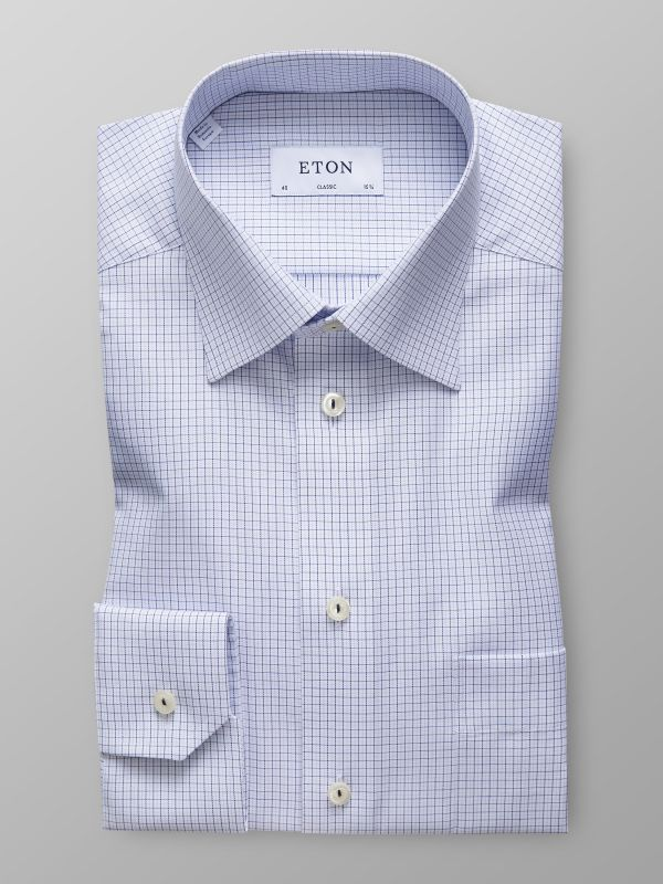 Sky Blue Fine Check Shirt