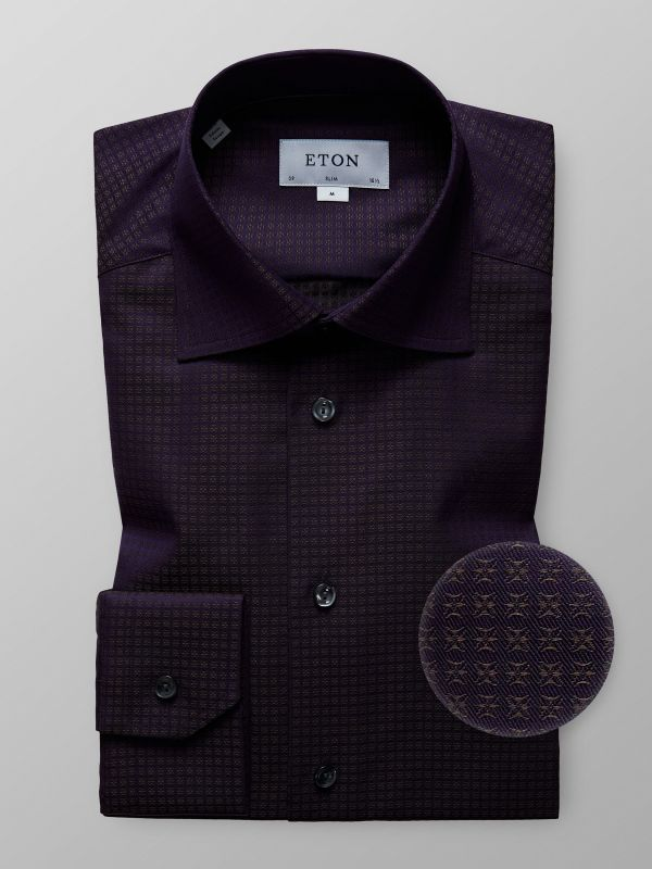 Purple Micro Pattern Shirt