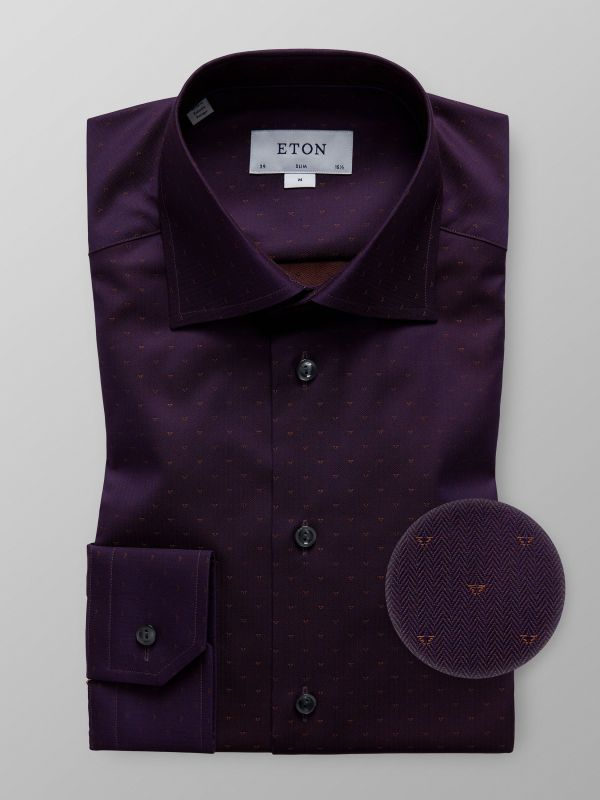 Purple Micro Effect Shirt