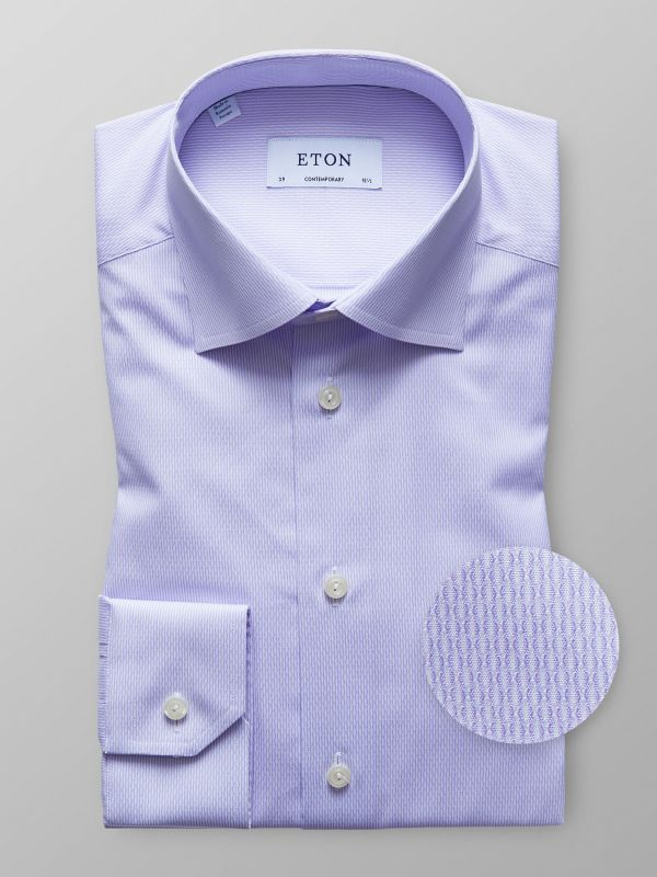 Purple Striped Twill Shirt