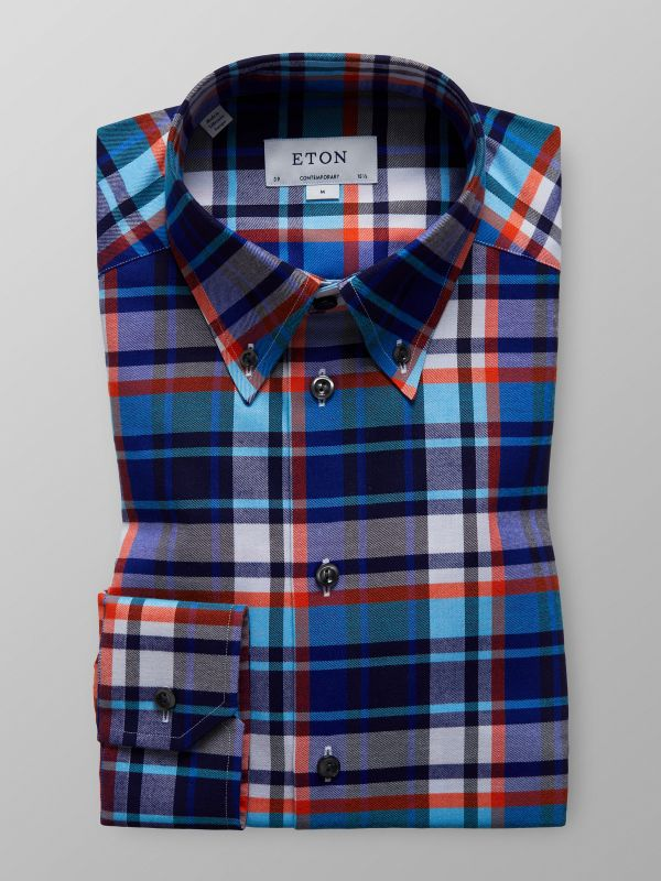 Bold Check Button-Down Shirt