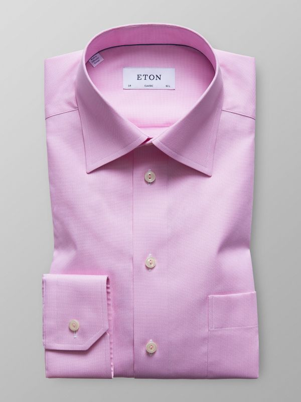 Pink Twill Shirt With Trim Details