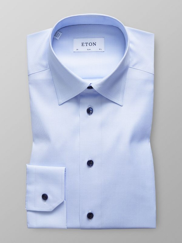 Sky Blue Shirt With Navy Details