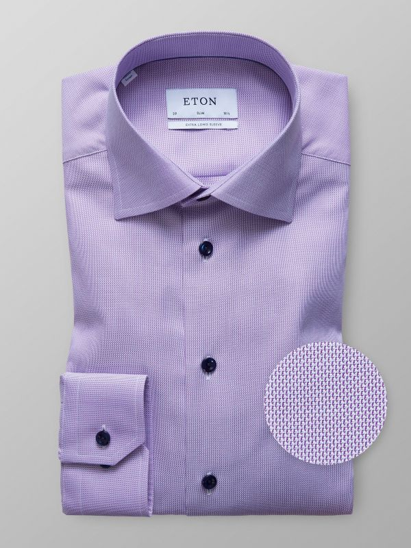 Purple Twill Shirt - Extra Long Sleeve