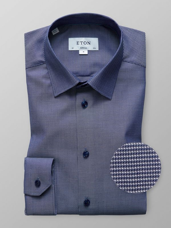 Navy Twill Textured Shirt