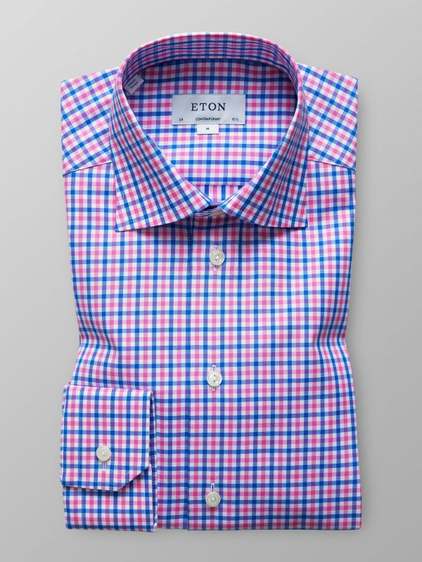 Blue & Pink Check Shirt