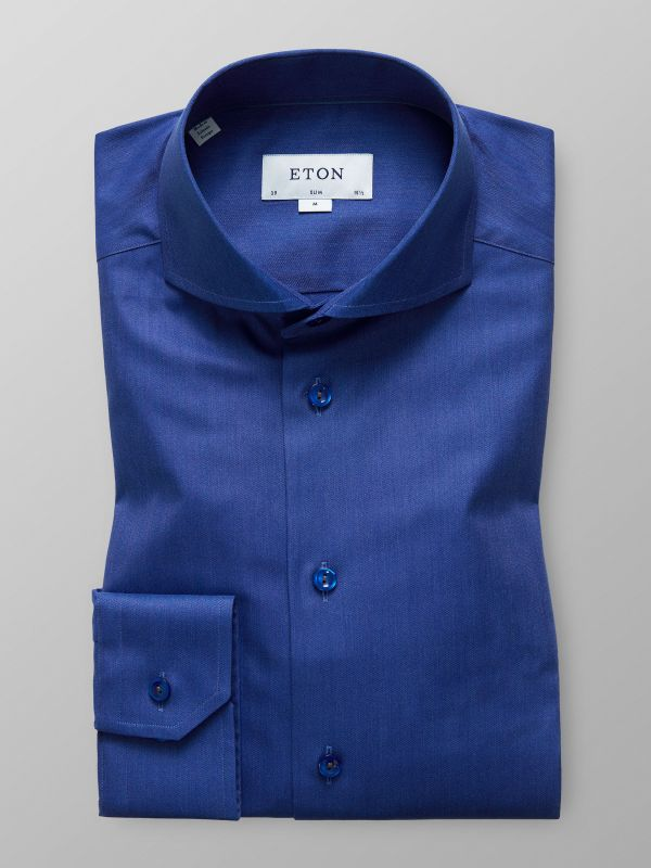 Blue Mélange Herringbone Shirt